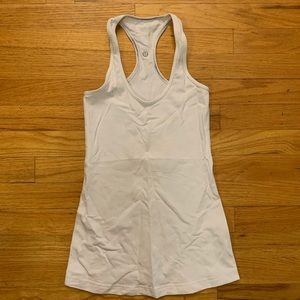Solid White Compression Workout Tank
